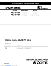 sony kdl 42v4100 manuals rh manualslib com Sony BRAVIA 42 LCD 1080P KDL-42V4100 Specs