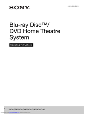Sony BDV-E290 Operating Instructions Manual
