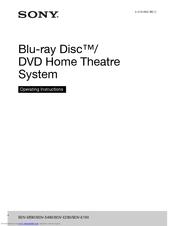 Sony BDV-E290 Operating Instructions Manual
