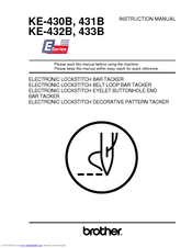 Brother KE-430B Series Instruction Manual