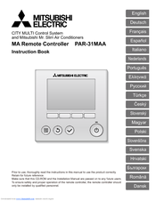 Mitsubishi Electric PAR-31MAA Instruction Book