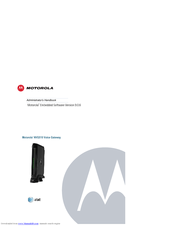 motorola nvg510 manuals rh manualslib com Motorola NVG510 Modem Wireless Router Motorola NVG510 Bridge Mode