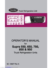 CARRIER TRANSICOLD SUPRA 550 OPERATOR'S MANUAL Pdf Download