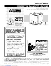 Reliance water heaters 606 Manuals | ManualsLibManualsLib