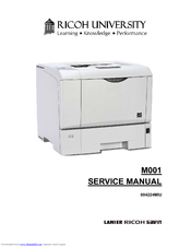 ricoh m001 service manual pdf download rh manualslib com ricoh aficio mp 3500 service manual Ricoh SP 6330N