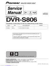Pioneer DVRS806 Download Driver