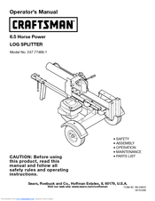 Craftsman 247.77466.1 Operator's Manual