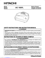 Hitachi UC 10SFL Safety Instructions And Instruction Manual