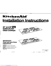 "KitchenAid 30"" Electric Freestanding Range Installation Instructions"