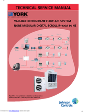 York AFFINITY R-410A Manuals on