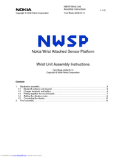 Nokia NWSP Assembly Instructions Manual