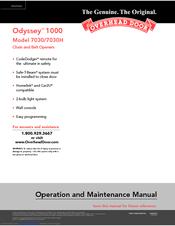 Overhead Door Odyssey 1000 7030 Manuals