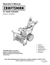 craftsman snow blower manuals