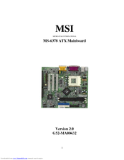Msi ms 6378 | user guide.