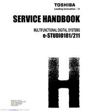 toshiba e studio 181 211 multifunctional digital systems service repair manual