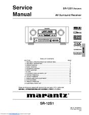 MARANTZ SR-12S1 SERVICE MANUAL Pdf Download