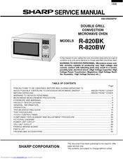 sharp r 820bk manuals rh manualslib com