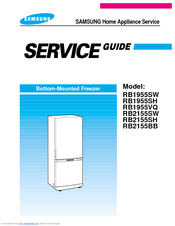 samsung rb1955sw manuals rh manualslib com samsung fridge service manual pdf samsung refrigerator service manual