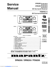 MARANTZ SR9200 SERVICE MANUAL Pdf Download