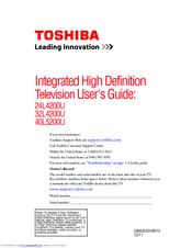 Toshiba 24L4200U User Manual