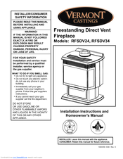 vermont castings rfsdv34 manuals vermont castings rfsdv34 installation instructions and homeowner s manual