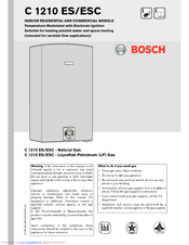 Bosch GWH C 920 ESC Installation Manual