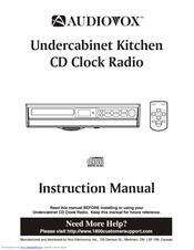 audiovox kcd3180 manuals rh manualslib com Kitchen Under Cabinet for TV Under Cabinet TV Target