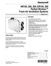 Honeywell PERFECT WINDOW ER150 Product Data