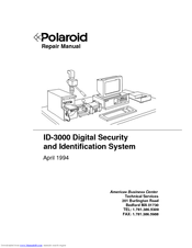 polaroid id 3000 manuals rh manualslib com polaroid spectra repair manual polaroid 1000 repair manual