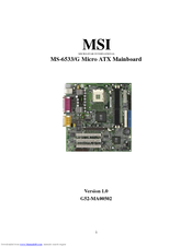 MS-6533 MAINBOARD DRIVER PC