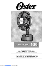 Oster 1693 Instruction Manual