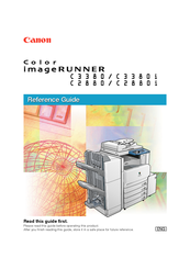 Canon Color imageRUNNER C3380i Reference Manual