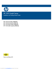 HP 1810-8G Installation And Getting Started Manual
