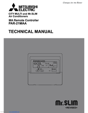 Mitsubishi Electric PAR-21MAA Technical Manual