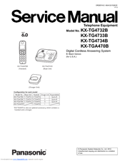Panasonic KX-TG4733B Service Manual