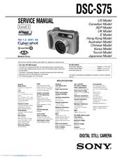 sony cyber shot dsc s750 service manual repair guide