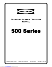 Manuals And User Guides For Sub Zero 532 We Have 4 Available Free Pdf Technical Service Training Manual
