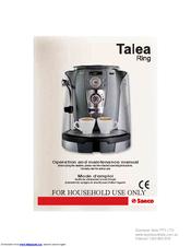saeco talea ring operation and maintenance manual pdf download rh manualslib com service manual saeco talea ring plus service manual saeco talea ring plus