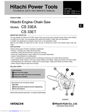 Hitachi CS 33EA Technical Data And Service Manual