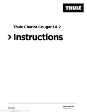 thule chariot cougar 2 manuals rh manualslib com Chariot Stroller chariot cx 2 instruction manual
