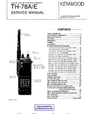 Kenwood TH-78E Service Manual