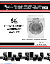 whirlpool wfw8300sw duet sport washer manuals rh manualslib com whirlpool duet sport washer repair manual whirlpool duet sport washer parts manual