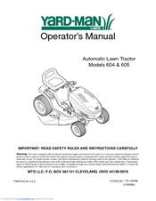 yard man autodrive 604 manuals rh manualslib com MTD Yardman Riding Mower 42 In MTD Yardman Riding Mower 42 In