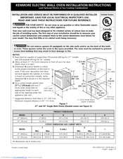 "Kenmore 27"" (69 cm) Installation Instructions Manual"