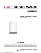 Haier DW9-TFE3ME-F Service Manual