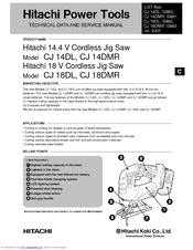 Hitachi CJ 14DMR Technical Data And Service Manual
