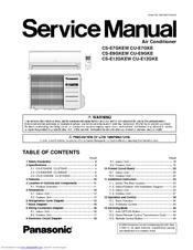 panasonic cs e12gkew manuals rh manualslib com Air Compressor Repair Manuals Ingersoll Rand Air Compressor Manual