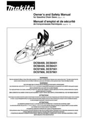 Makita DCS 7300 Owner's And Safety Manual