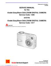 KODAK C603 ZOOM DIGITAL CAMERA EASYSHARE DRIVERS UPDATE