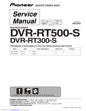 Pioneer DVR-RT300-S Service Manual